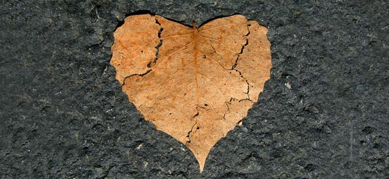 coeur brisé par la rupture amoureuse