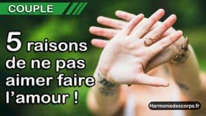 Read more about the article 5+1 raisons de ne pas aimer faire l'amour (chez tes partenaires)